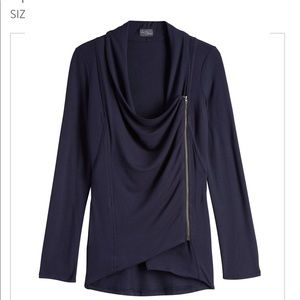 Asymmetrical Zip Cardigan